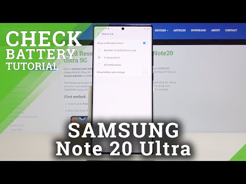 How to Show Battery Percentage in SAMSUNG Galaxy Note 20 Ultra – Show Battery Info