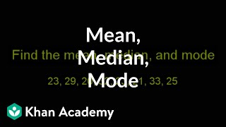 Finding Mean, Median and Mode | Descriptive statistics | Probability and Statistics | Khan Academy