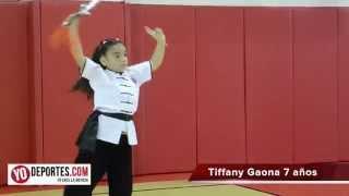 Tiffany Gaona experta en artes marciales