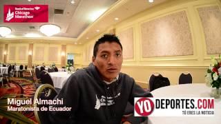 Miguel Almachi empezó a correr a los 21 años y ya es de la élite mundial en maratones