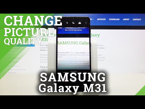 How to Change Photo Resolution in SAMSUNG Galaxy M31