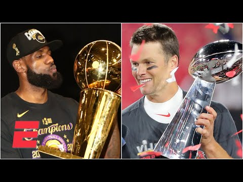 LeBron or Tom Brady: Who will win more titles from this point forward in their career?   #Greeny