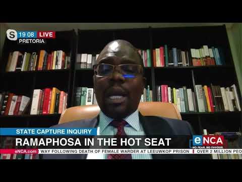 Ramaphosa testified before the Zondo Commission