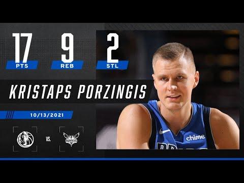 Kristaps Porzingis goes for 17 PTS, 9 REB & 2 STL against the Charlotte Hornets