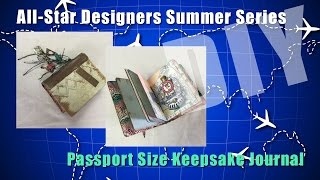 Passport Size Keepsake Journal