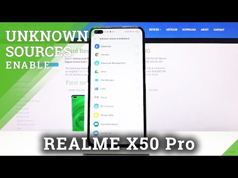 How to Enable Unknown Sources on REALME X50 PRO