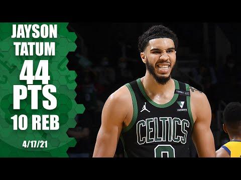 Jayson Tatum drops 44 PTS to lead the Celtics in w…