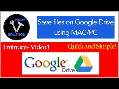 How to save files on google drive using MAC or