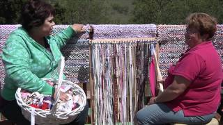 Rag Rug Weaving