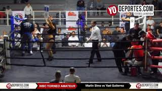 Marlin Sims vs. Yael Gutierrez WBC Torneo Amateur Cicero Stadium