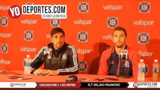 Veljko Paunovic Jonathan Campbell Chicago Fire vs United 1-1