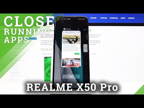 How to Turn Off Running Apps in REALME X50 PRO 5G - Switch Off Background Apps