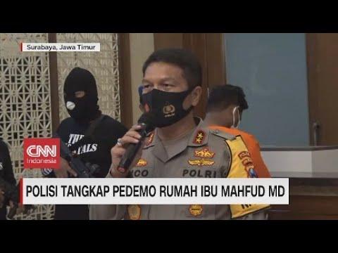 Polisi Tangkap Pedemo Rumah Ibu Mahfud MD