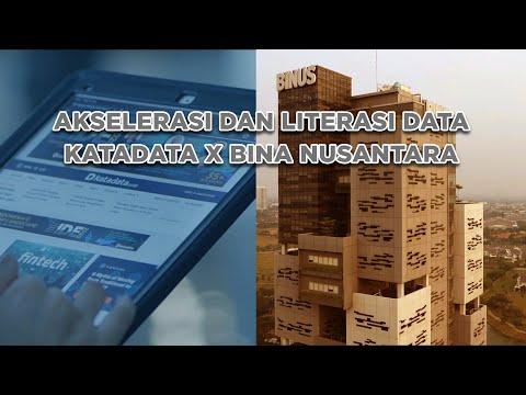 AKSELERASI DATA UNTUK PENINGKATAN KOMPETENSI AKADEMIK: KATADATA X BINUS | Katadata Indonesia