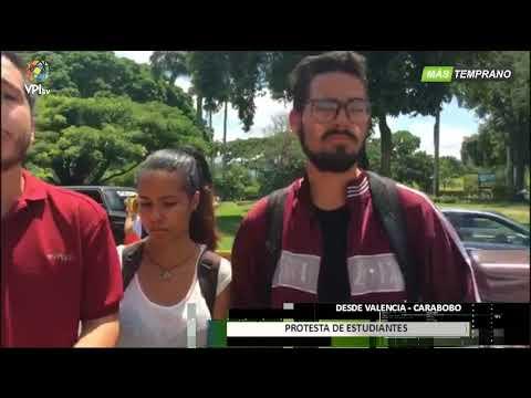 Venezuela- Estudiantes protestaron en la redoma de Guaparo -VPItv