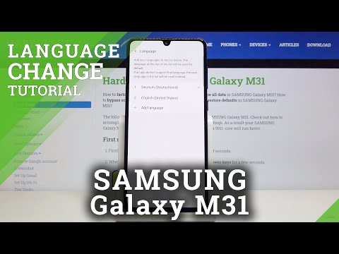 How to Change Language in SAMSUNG Galaxy M31 – Find System Dictionary