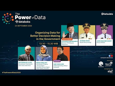 The Power of Data: Organizing Data for Better Decision Making in the Government | Katadata Indonesia