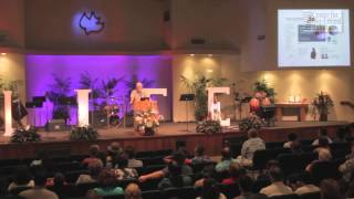 Gregg Cunningham demonstrates how to show abortion video in a large church