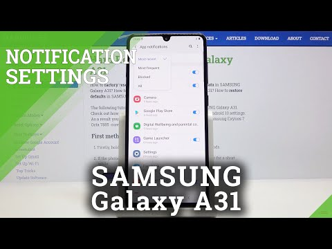 How to Switch Off Notifications in Samsung Galaxy A31 – Adjust Notifications