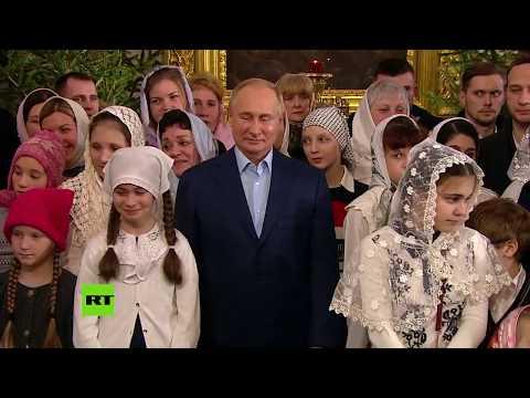 Vladímir Putin acude a la Misa de Navidad en San Petersburgo