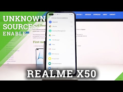 How to Allow App Installation in REALME X50 5G - Enable Unknown Sources