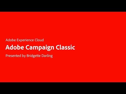The Basics of Adobe Campaign Classic