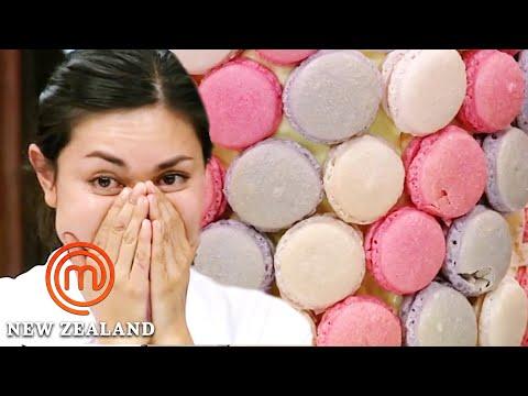 Grand Finale's Macaron Flower Frenzy Tower   MasterChef New Zealand   MasterChef World