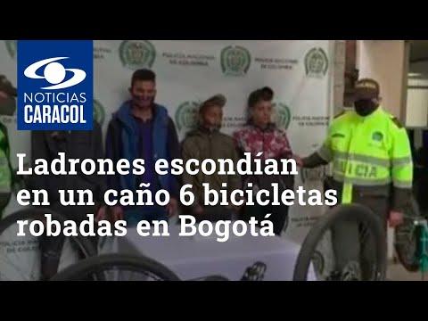 Ladrones tenían escondidas en un caño seis bicicletas robadas en Bogotá
