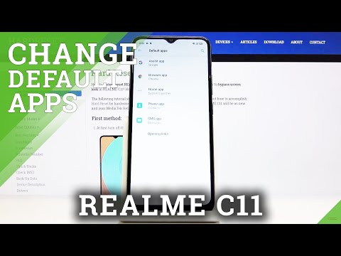 How to Set Up Default Browser in REALME C11 - List of Default Apps