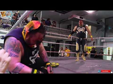 Gran Titán Jr vs Ángel Dorado Jr en Arena Gladiador Matamoros