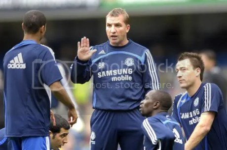 Rodgers during his spell at Chelsea