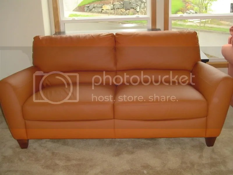 I Purchased A Macys Italian Orange Leather Sofa And I Need Suggestions For Curtains The Living
