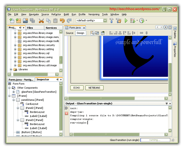 netbeans, transition, glasspane, java, swing