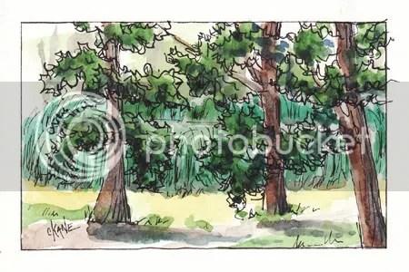 Hidden Pond Sketch - Hickory Hills, IL