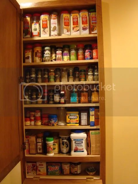 My new spice cabinet grace2882 for Kitchen cabinets 8 inches deep