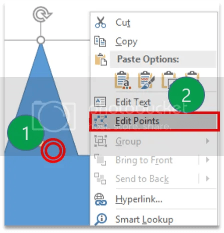 Figure 2. The right-click menu also provides the Edit Points option.