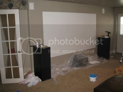 Elektra 8 3 120 Drywall Screen Pics Home Theater Forum And Systems Hometheatershack Com