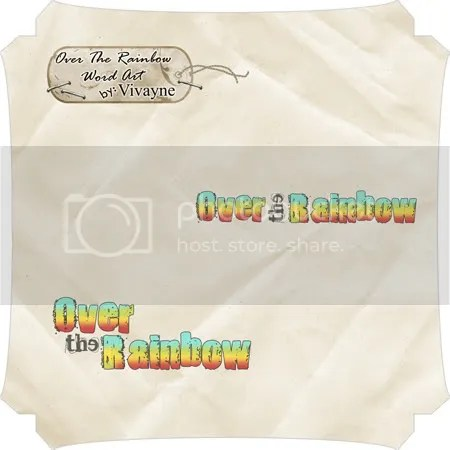 free wordart Over the Rainbow by vivayne