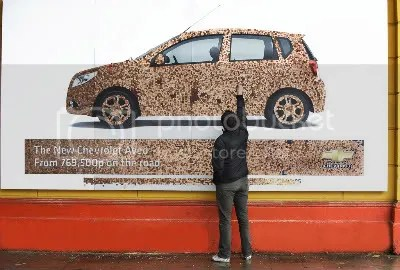 chevrolet penny billboard