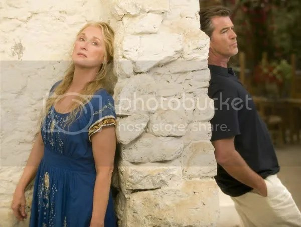 Meryl Streep and Pierce Brosnan in Mamma Mia
