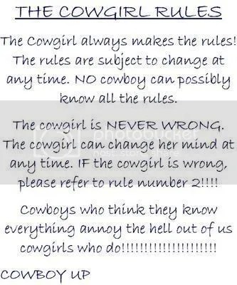 cowgirl rules Pictures, Images and Photos