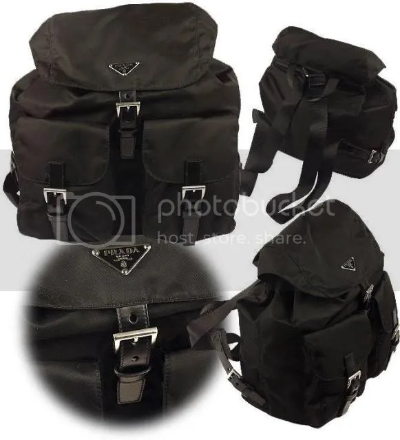 Prada fashion backpack purses