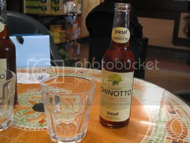 Having a chinotto at Besio.