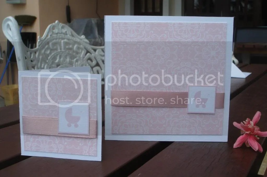 mini card in pink