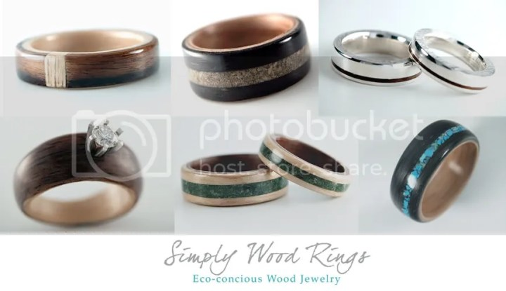 green   eco friendly engagement rings and wedding bands      Melanie     eco friendly green wedding engagement rings wooden rings