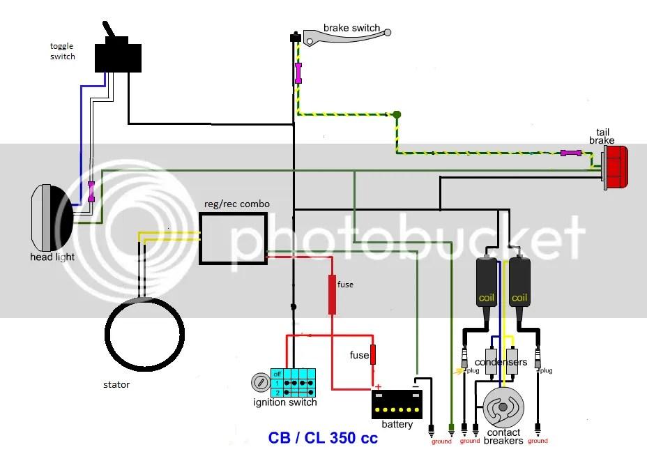 CL 350 Minimal Wiring Diagram