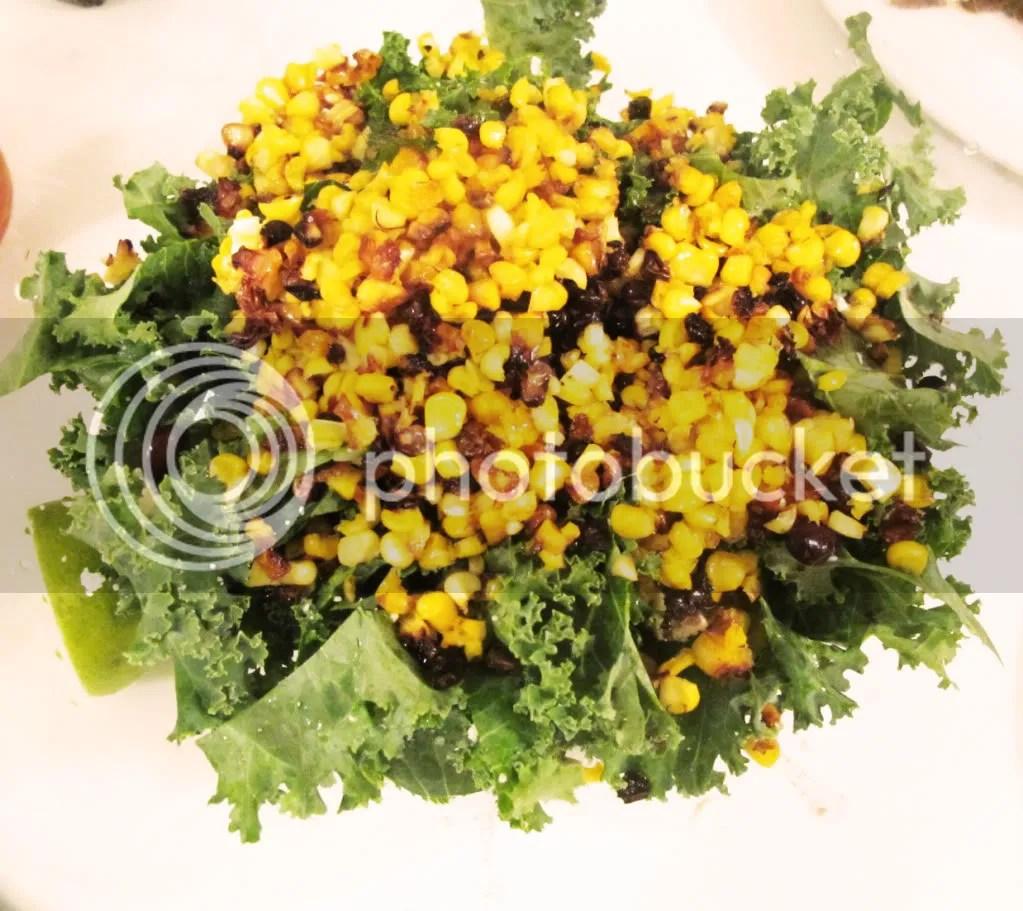 Roasted Corn and Kale Salad