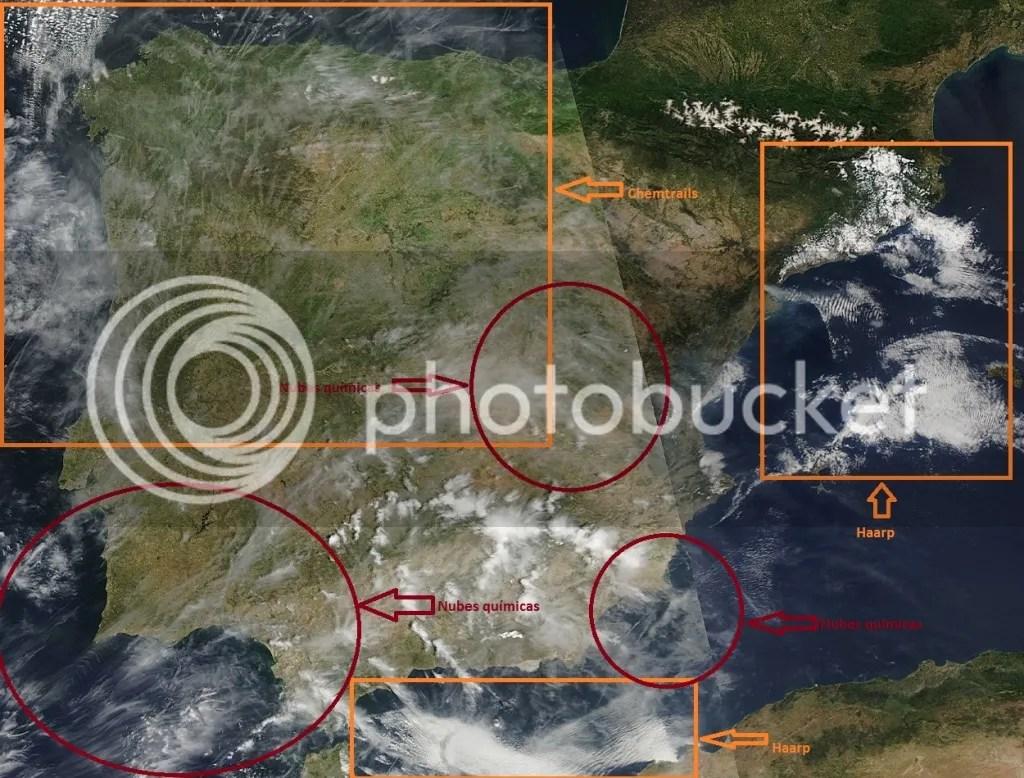 pruebas fotograficas de la manipulación atmosérica