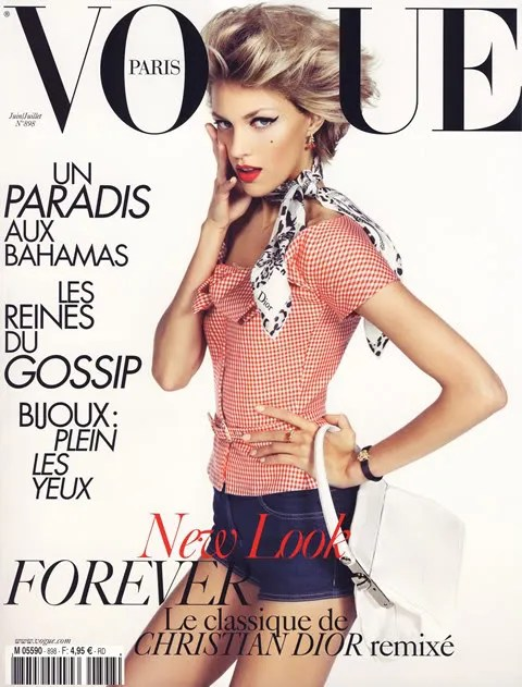 Anja Rubik for Vogue Paris Magazine Cover, June/July 2009 issue