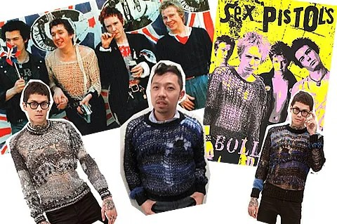 Brodarte, Rodarte for men, Mohair Sweaters, Sex Pistols